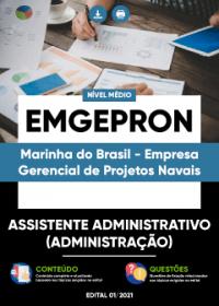 Assistente Administrativo (Administração) - EMGEPRON