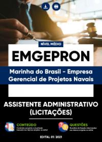 Assistente Administrativo (Licitações) - EMGEPRON