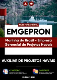 Auxiliar de Projetos Navais - EMGEPRON