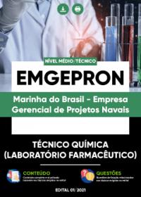 Técnico Química (Laboratório Farmacêutico) - EMGEPRON