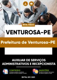 Auxiliar de Serviços Administrativos e Recepcionista- Prefeitura de Venturosa-PE