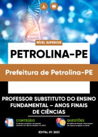 Professor Substituto - Anos Finais de Ciências - Prefeitura de Petrolina-PE