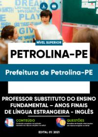 Prof. Substituto-Anos Finais de Língua Estrangeira-Inglês- Pref. de Petrolina-PE