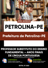Professor Substituto-Anos Finais Língua Portuguesa - Prefeitura de Petrolina-PE