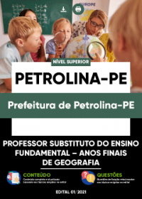 Professor Substituto - Anos Finais de Geografia - Prefeitura de Petrolina-PE