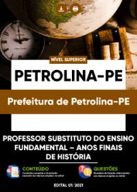 Professor Substituto - Anos Finais de História - Prefeitura de Petrolina-PE