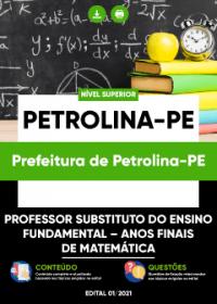 Professor Substituto - Anos Finais de Matemática - Prefeitura de Petrolina-PE