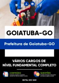 Vários Cargos de Nível Fundamental Completo - Prefeitura de Goiatuba-GO