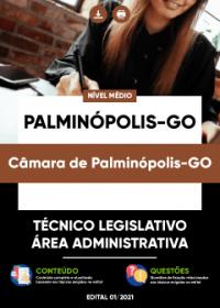 Técnico Legislativo - Área Administrativa - Câmara de Palminópolis-GO