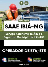 Operador de ETA-ETE - SAAE Ibiá-MG