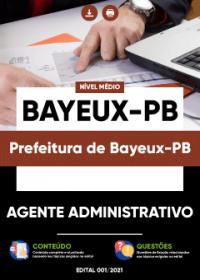 Agente Administrativo - Prefeitura de Bayeux-PB