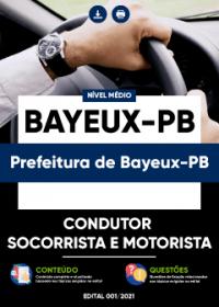 Condutor Socorrista e Motorista - Prefeitura de Bayeux-PB