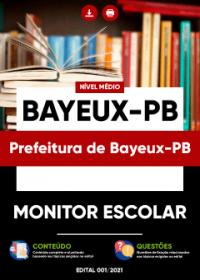 Monitor Escolar - Prefeitura de Bayeux-PB