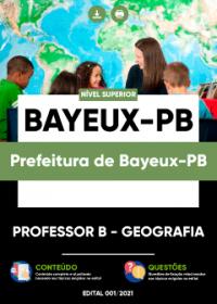 Professor B - Geografia - Prefeitura de Bayeux-PB