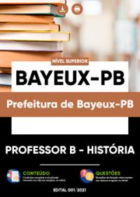 Professor B - História - Prefeitura de Bayeux-PB