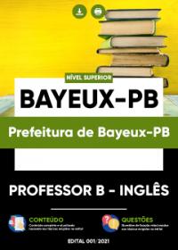 Professor B - Inglês - Prefeitura de Bayeux-PB