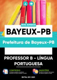 Professor B - Língua Portuguesa - Prefeitura de Bayeux-PB