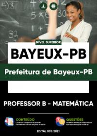 Professor B - Matemática - Prefeitura de Bayeux-PB