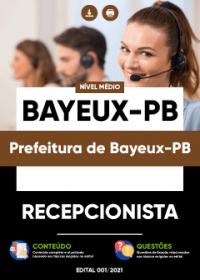 Recepcionista - Prefeitura de Bayeux-PB