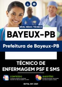 Técnico de Enfermagem PSF e SMS - Prefeitura de Bayeux-PB
