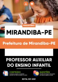 Professor Auxiliar do Ensino Infantil - Prefeitura de Mirandiba-PE