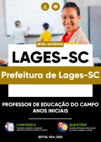 Professor de Educação do Campo - Anos Iniciais - Prefeitura de Lages-SC