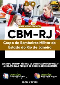 Soldado - Técnico de Enfermagem Hospitalar-Ambulatorial e Socorrista - CBM-RJ