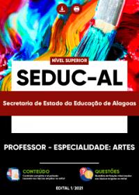 Professor - Especialidade: Artes - SEDUC-AL