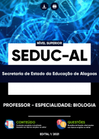 Professor - Especialidade: Biologia - SEDUC-AL