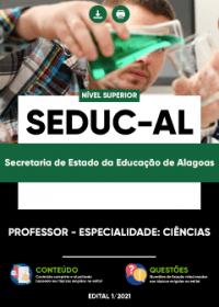 Professor - Especialidade: Ciências - SEDUC-AL