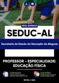 Professor - Especialidade: Educação Física - SEDUC-AL