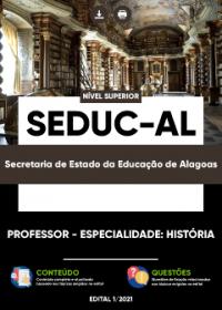 Professor - Especialidade: História - SEDUC-AL
