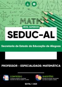 Professor - Especialidade: Matemática - SEDUC-AL