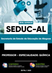Professor - Especialidade: Química - SEDUC-AL