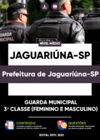 Guarda Municipal - 3ª Classe - Prefeitura de Jaguariúna-SP