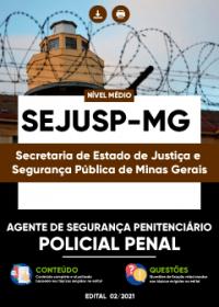 Agente de Segurança Penitenciário - Policial Penal - SEJUSP-MG