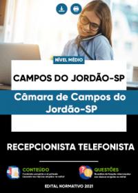 Recepcionista Telefonista - Câmara de Campos do Jordão-SP
