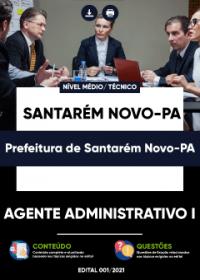 Agente Administrativo I - Prefeitura de Santarém Novo-PA
