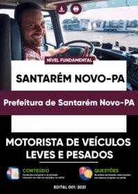 Motorista de Veículos Leves e Pesados - Prefeitura de Santarém Novo-PA