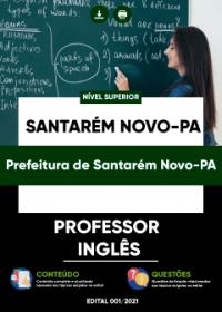 Professor - Inglês - Prefeitura de Santarém Novo-PA