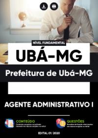 Agente Administrativo I - Prefeitura de Ubá-MG