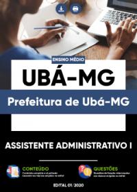 Assistente Administrativo I - Prefeitura de Ubá-MG