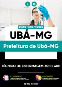 Técnico de Enfermagem 30h e 40h - Prefeitura de Ubá-MG