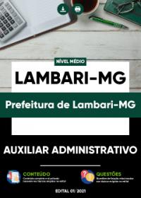 Auxiliar Administrativo - Prefeitura de Lambari-MG