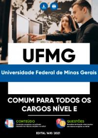 Comum aos cargos de nível E - UFMG