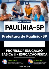 Professor Educação Básica II - Educação Física - Prefeitura de Paulínia-SP