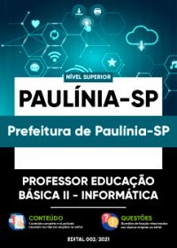 Professor Educação Básica II - Informática - Prefeitura de Paulínia-SP