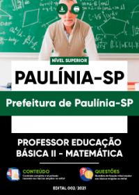Professor Educação Básica II - Matemática - Prefeitura de Paulínia-SP