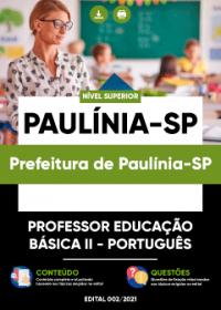 Professor Educação Básica II - Português - Prefeitura de Paulínia-SP